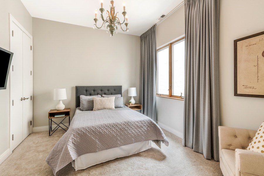 Real Estate Photography - 1708 W North Ave, C4, Chicago, IL, 60614 - 2nd Bedroom