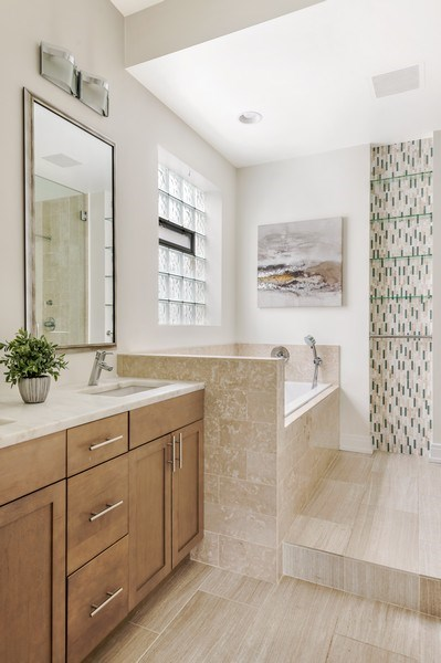 Real Estate Photography - 1708 W North Ave, C4, Chicago, IL, 60614 - Master Bathroom