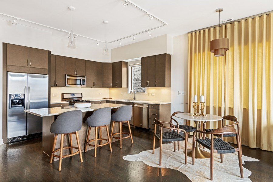 Real Estate Photography - 1708 W North Ave, C4, Chicago, IL, 60614 - Kitchen / Dining Room