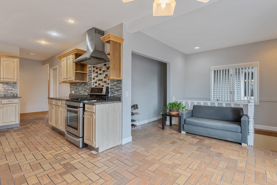 Real Estate Photography - 5898 N Elston Ave, Chicago, IL, 60646 - Family Room / Kitchen