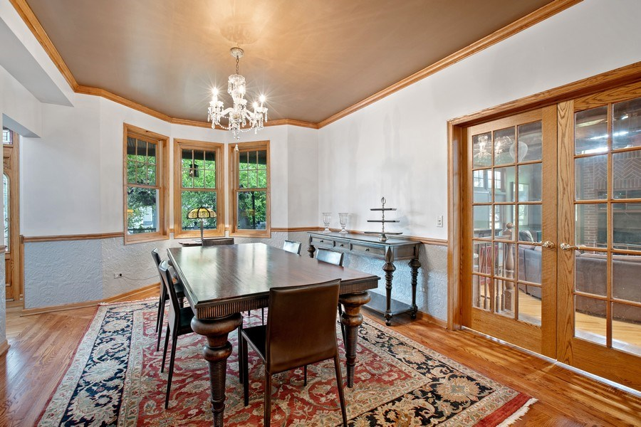 Real Estate Photography - 4545 W Berteau, Chicago, IL, 60641 - Dining Room