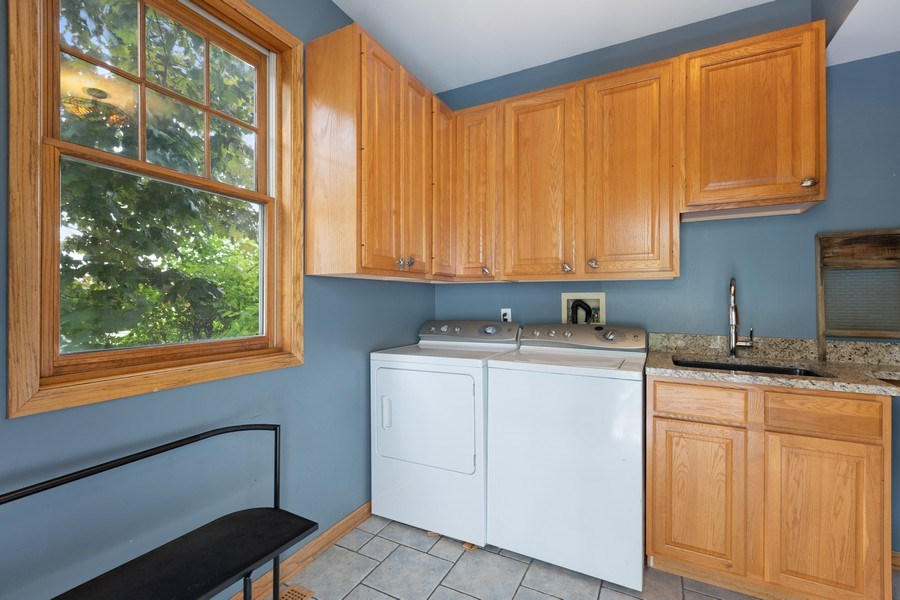 Real Estate Photography - 4545 W Berteau, Chicago, IL, 60641 - Laundry Room