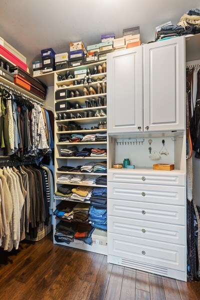 Real Estate Photography - 4545 W Berteau, Chicago, IL, 60641 - Master Bedroom Closet
