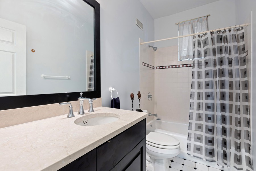 Real Estate Photography - 4545 W Berteau, Chicago, IL, 60641 - 2nd Bathroom