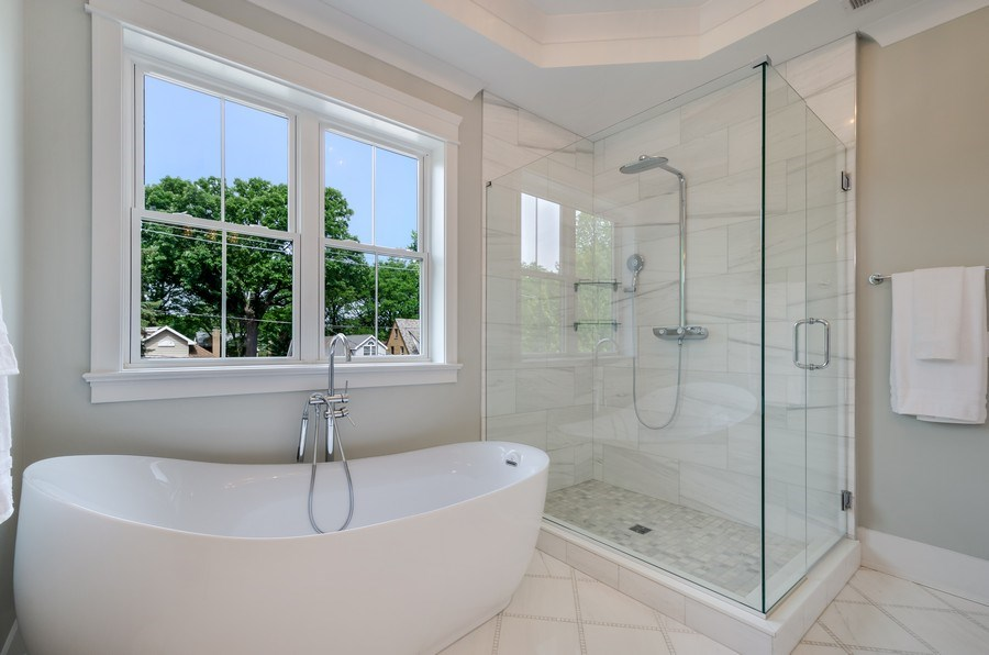 Real Estate Photography - 5822 N Kenneth, Chicago, IL, 60646 - Master Bathroom