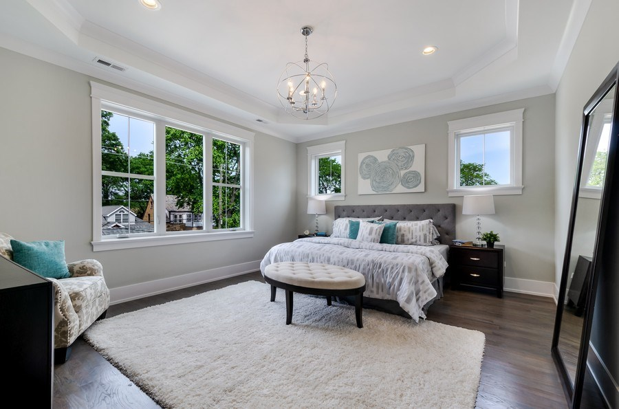 Real Estate Photography - 5822 N Kenneth, Chicago, IL, 60646 - Master Bedroom
