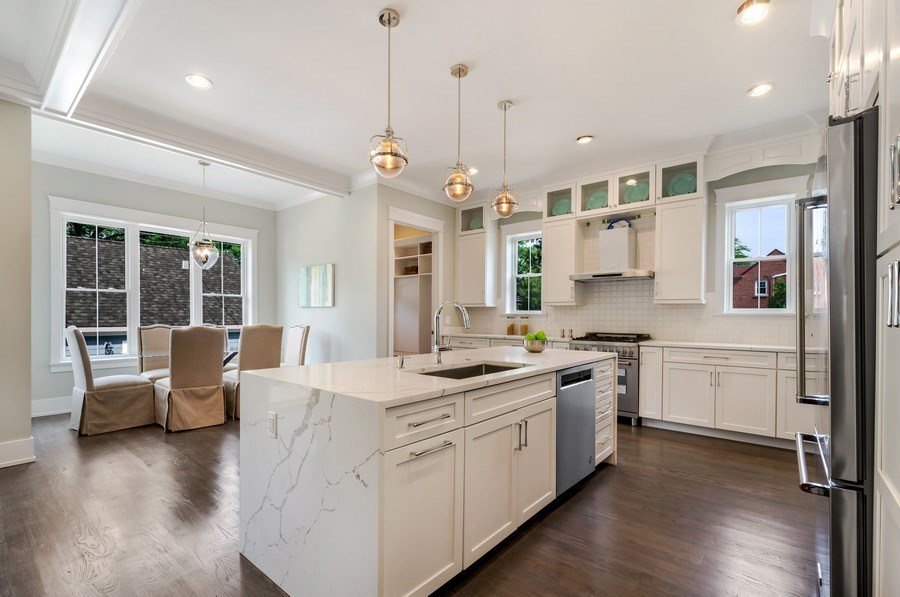Real Estate Photography - 5822 N Kenneth, Chicago, IL, 60646 - Kitchen / Breakfast Room