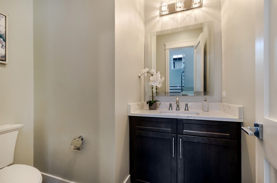 Real Estate Photography - 5822 N Kenneth, Chicago, IL, 60646 - Powder Room