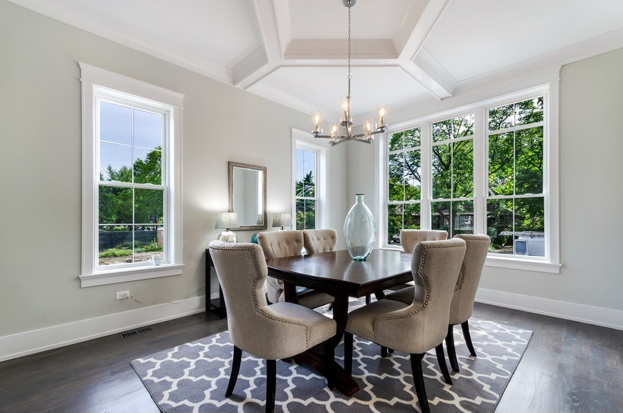 Real Estate Photography - 5822 N Kenneth, Chicago, IL, 60646 - Dining Room