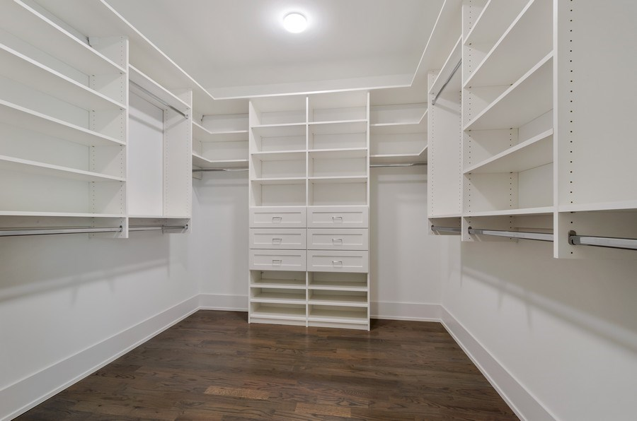 Real Estate Photography - 5822 N Kenneth, Chicago, IL, 60646 - Master Bedroom Closet