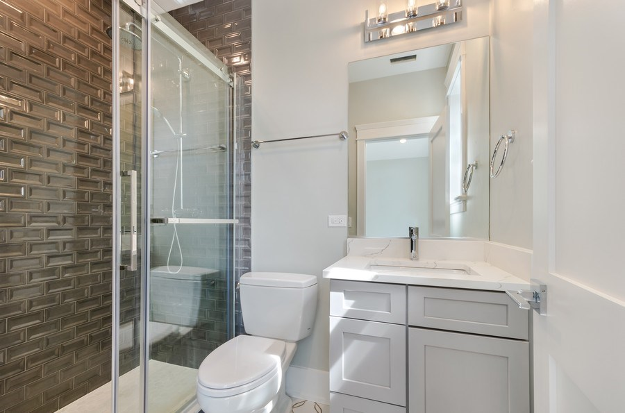 Real Estate Photography - 5822 N Kenneth, Chicago, IL, 60646 - 2nd Bathroom