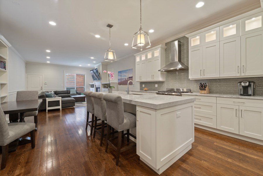Real Estate Photography - 3841 Janssen Ave, Unit 1, Chicago, IL, 60613 - Kitchen