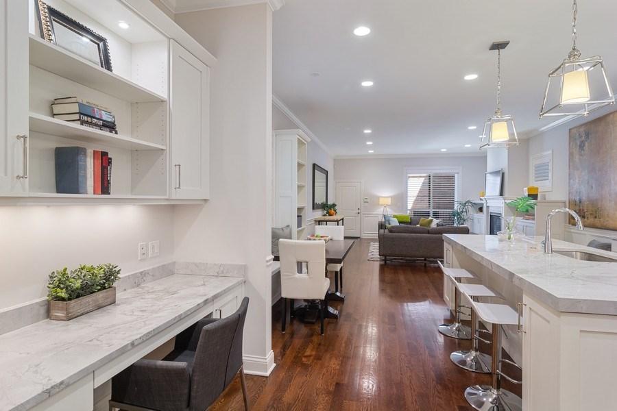 Real Estate Photography - 3841 Janssen Ave, Unit 1, Chicago, IL, 60613 - Kitchen Desk