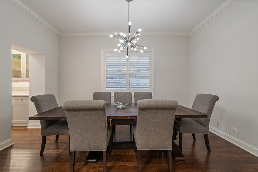 Real Estate Photography - 3841 Janssen Ave, Unit 1, Chicago, IL, 60613 - Dining Room