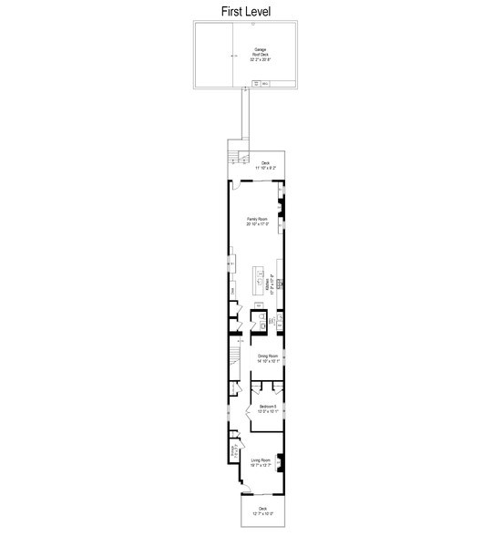 Real Estate Photography - 3841 Janssen Ave, Unit 1, Chicago, IL, 60613 - Floor Plan