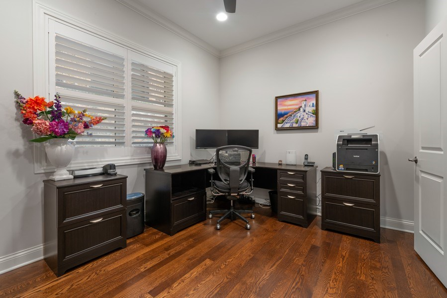 Real Estate Photography - 3841 Janssen Ave, Unit 1, Chicago, IL, 60613 - 5th Bedroom/Office