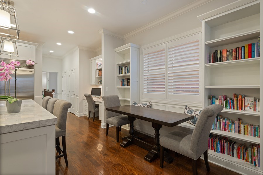 Real Estate Photography - 3841 Janssen Ave, Unit 1, Chicago, IL, 60613 - Breakfast Nook