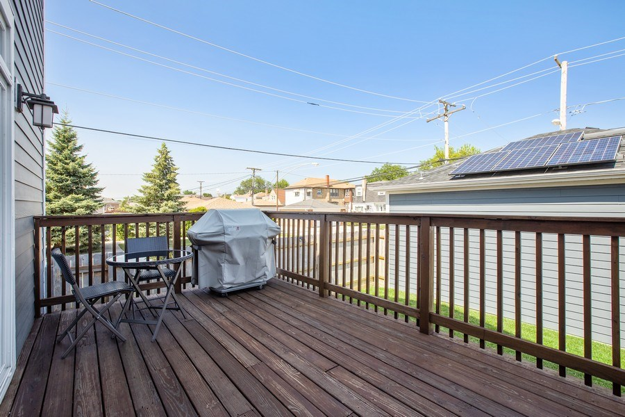 Real Estate Photography - 7259 N Oriole Ave, Chicago, IL, 60631 - Deck