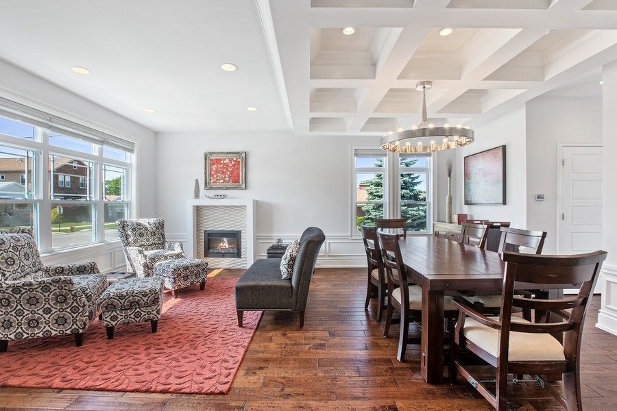 Real Estate Photography - 7259 N Oriole Ave, Chicago, IL, 60631 - Living Room / Dining Room
