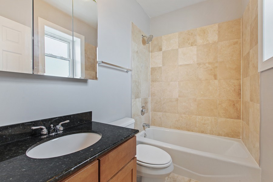 Real Estate Photography - 5148 Avers, Unit 3W, Chicago, IL, 60625 - Master Bathroom