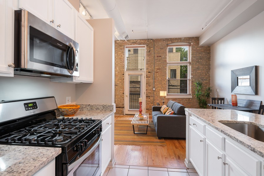 Real Estate Photography - 1907 N Milwaukee, #209, Chicago, IL, 60647 - Kitchen