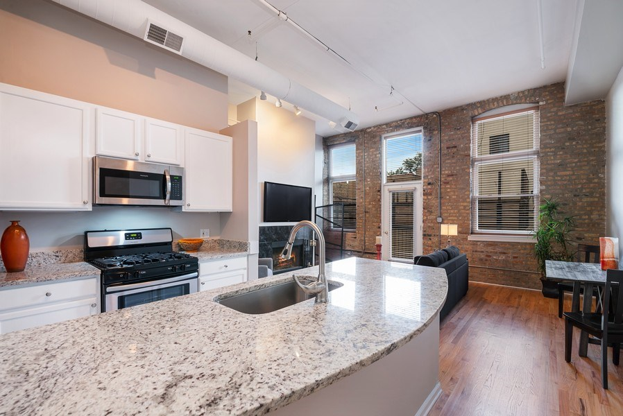 Real Estate Photography - 1907 N Milwaukee, #209, Chicago, IL, 60647 - Great Room
