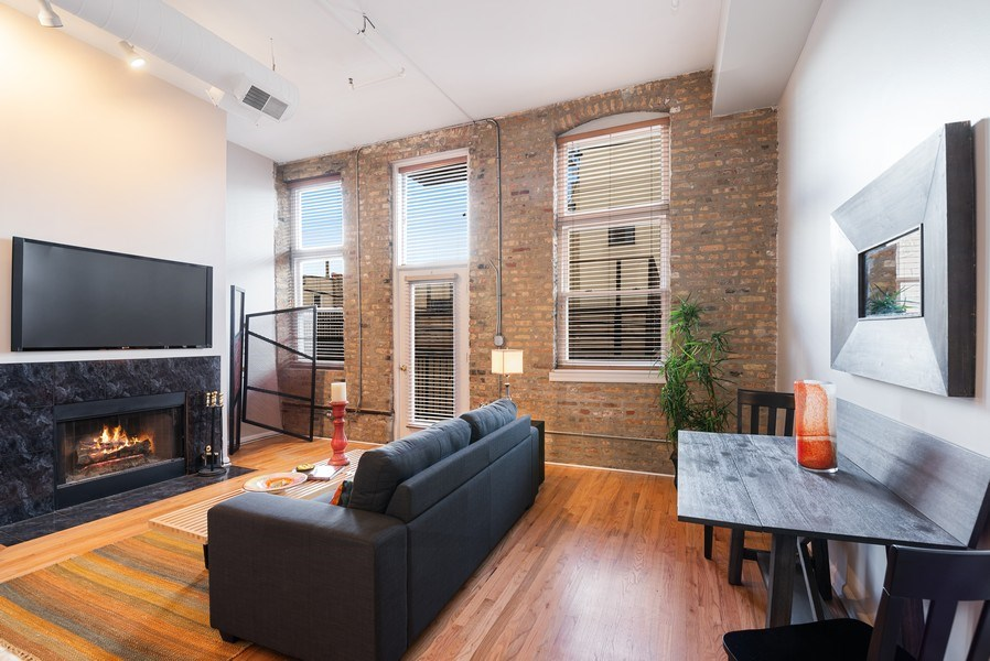 Real Estate Photography - 1907 N Milwaukee, #209, Chicago, IL, 60647 - Living Room / Dining Room