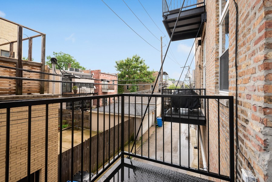 Real Estate Photography - 1907 N Milwaukee, #209, Chicago, IL, 60647 - Balcony