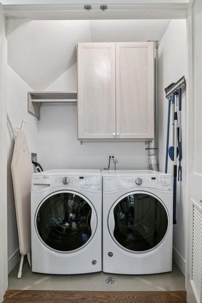 Real Estate Photography - 858 W Aldine, #2, Chicago, IL, 60657 - Laundry Room