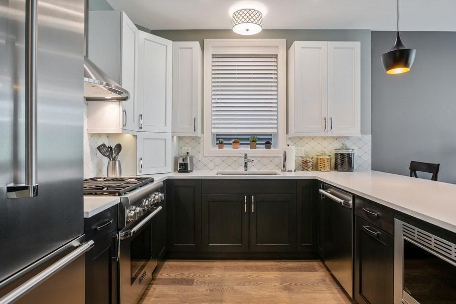 Real Estate Photography - 858 W Aldine, #2, Chicago, IL, 60657 - Kitchen