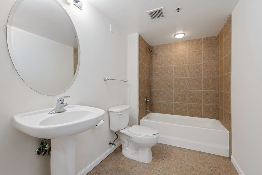 Real Estate Photography - 4848 N Sheridan, Unit 209, Chicago, IL, 60640 - 2nd Bathroom