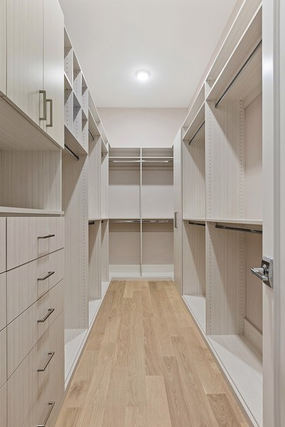 Real Estate Photography - 220 S Green St, 4S, Chicago, IL, 60607 - Master Bedroom Closet