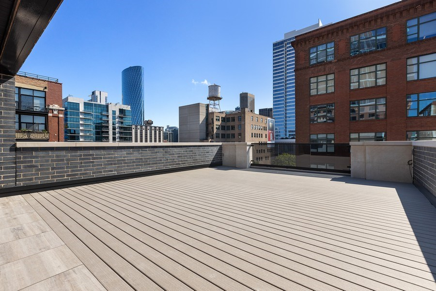Real Estate Photography - 220 S Green St, 4S, Chicago, IL, 60607 - Deck