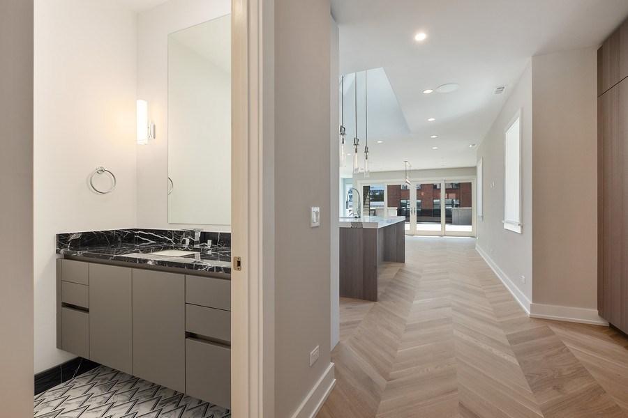 Real Estate Photography - 220 S Green St, 4S, Chicago, IL, 60607 - Half Bath