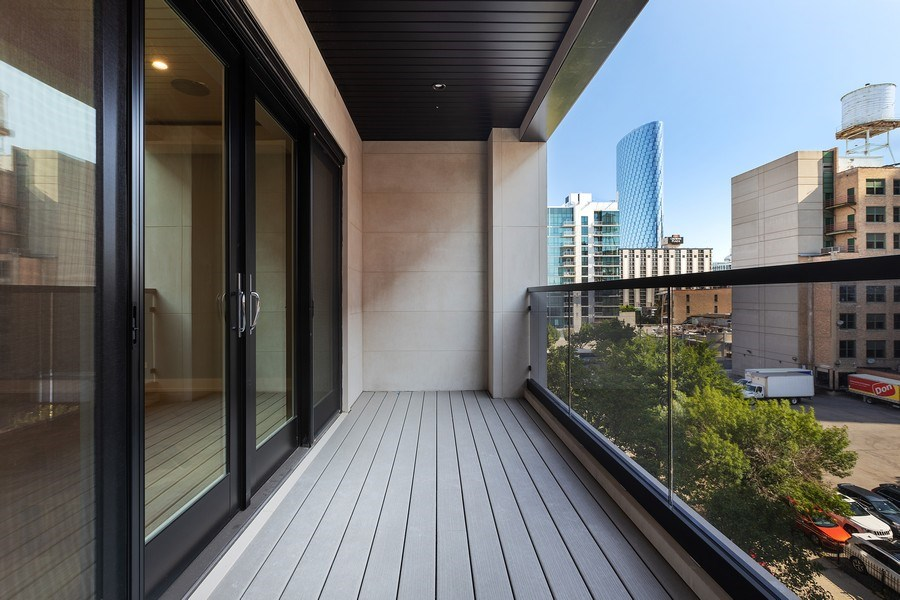 Real Estate Photography - 220 S Green St, 4S, Chicago, IL, 60607 - Balcony