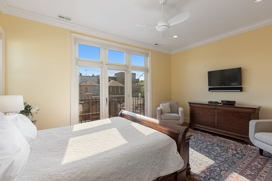 Real Estate Photography - 1321 N Bell, Chicago, IL, 60622 - Master Bedroom