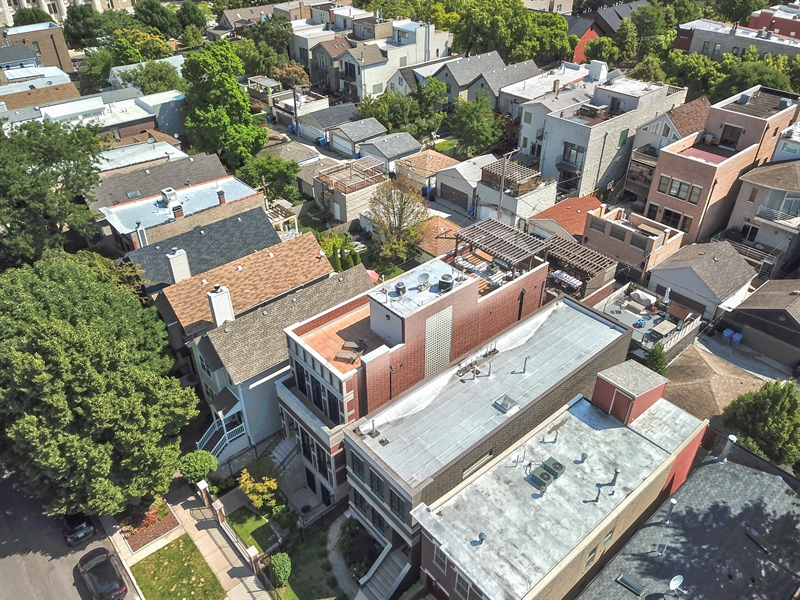 Real Estate Photography - 1321 N Bell, Chicago, IL, 60622 - Aerial View