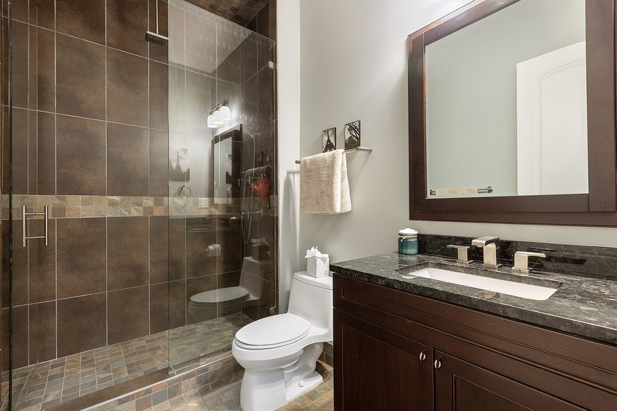 Real Estate Photography - 1321 N Bell, Chicago, IL, 60622 - 2nd Bathroom