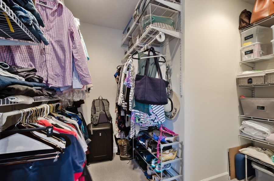 Real Estate Photography - 5850 N Virginia, Chicago, IL, 60659 - Master Bedroom Closet