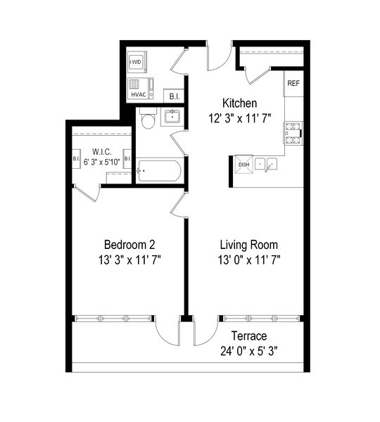 Real Estate Photography - 3946 N Ravenswood, #304, Chicago, IL, 60613 - Floor Plan