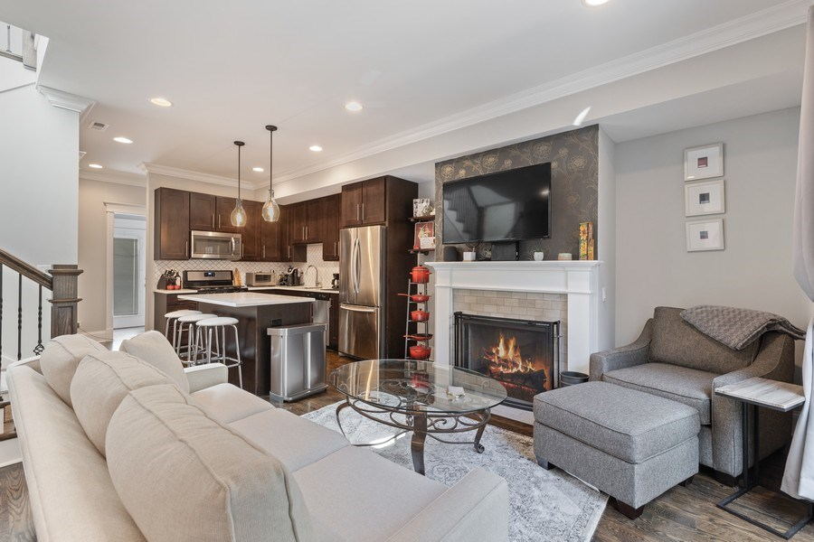 Real Estate Photography - 1827 W Melrose, Chicago, IL, 60657 - Living Room