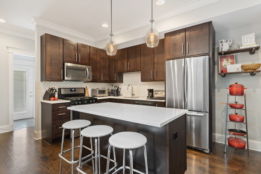 Real Estate Photography - 1827 W Melrose, Chicago, IL, 60657 - Kitchen
