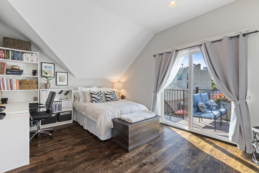 Real Estate Photography - 1827 W Melrose, Chicago, IL, 60657 - Bedroom