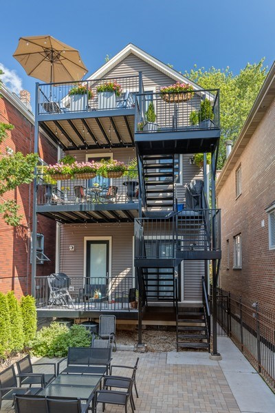 Real Estate Photography - 1827 W Melrose, Chicago, IL, 60657 - Rear View
