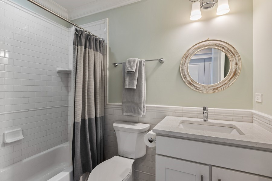 Real Estate Photography - 1827 W Melrose, Chicago, IL, 60657 - 2nd Bathroom