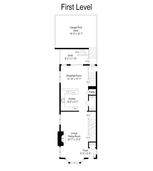 Real Estate Photography - 1768 W Thorndale, Chicago, IL, 60660 - Floor Plan