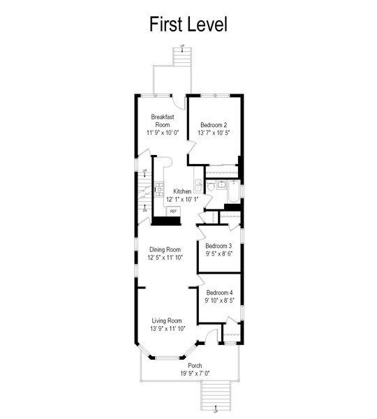 Real Estate Photography - 4922 N Bell, Chicago, IL, 60625 - Floor Plan