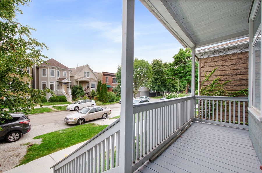 Real Estate Photography - 4922 N Bell, Chicago, IL, 60625 - Porch