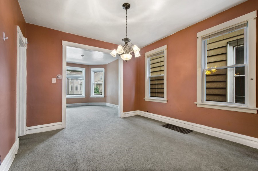 Real Estate Photography - 4922 N Bell, Chicago, IL, 60625 - Living Room / Dining Room