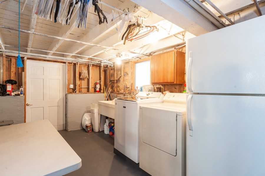 Real Estate Photography - 6308 N Sayre, Chicago, IL, 60631 - Laundry Room